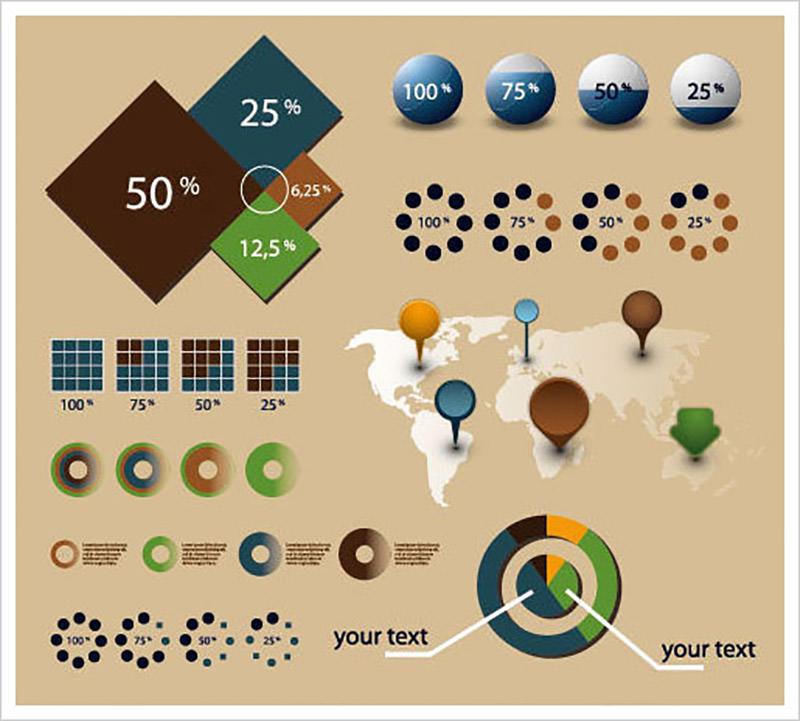 Economy Infographics & Chart Design Elements