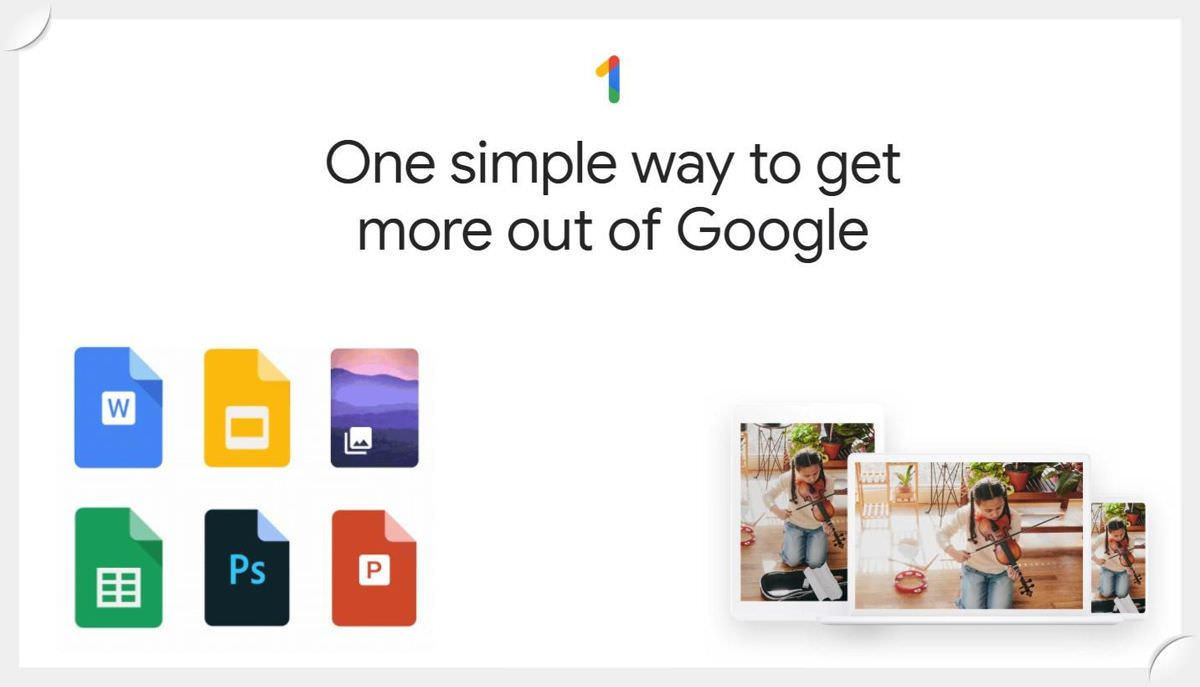 Google One is the shareable edition of Drive