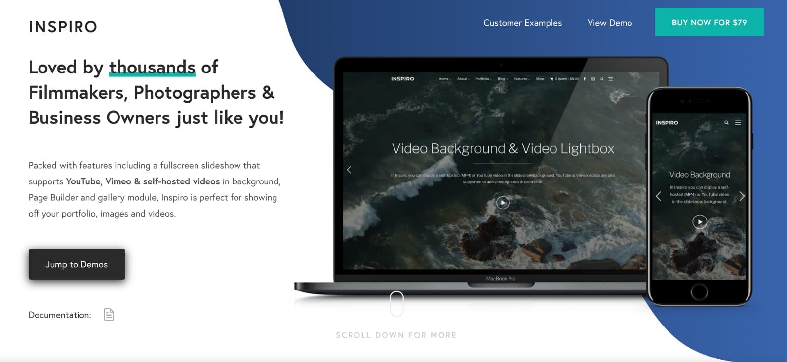 Inspiro WordPress theme