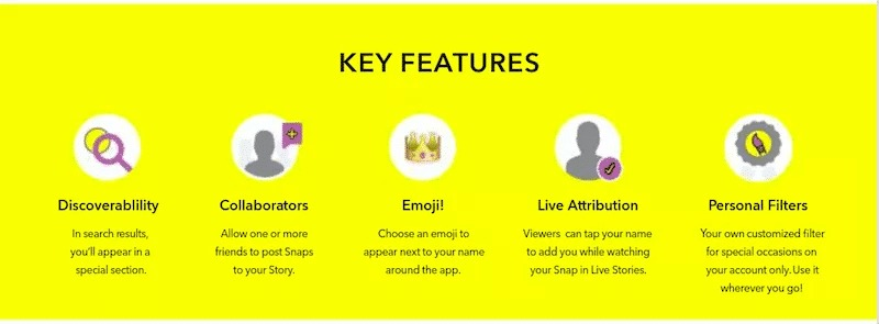 Snapchat key features