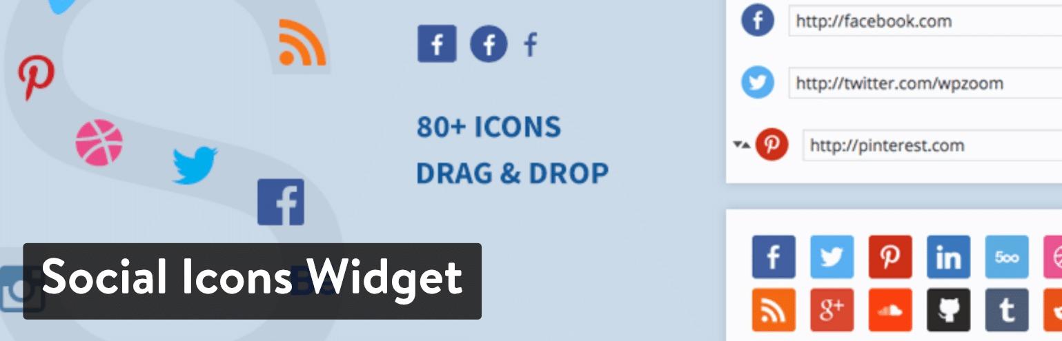 Social Icons Widget WordPress plugin