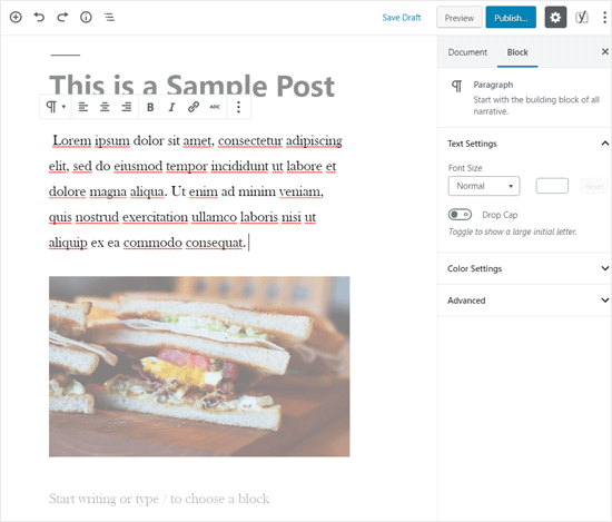 Spotlight Mode Enabled in WordPress Editor