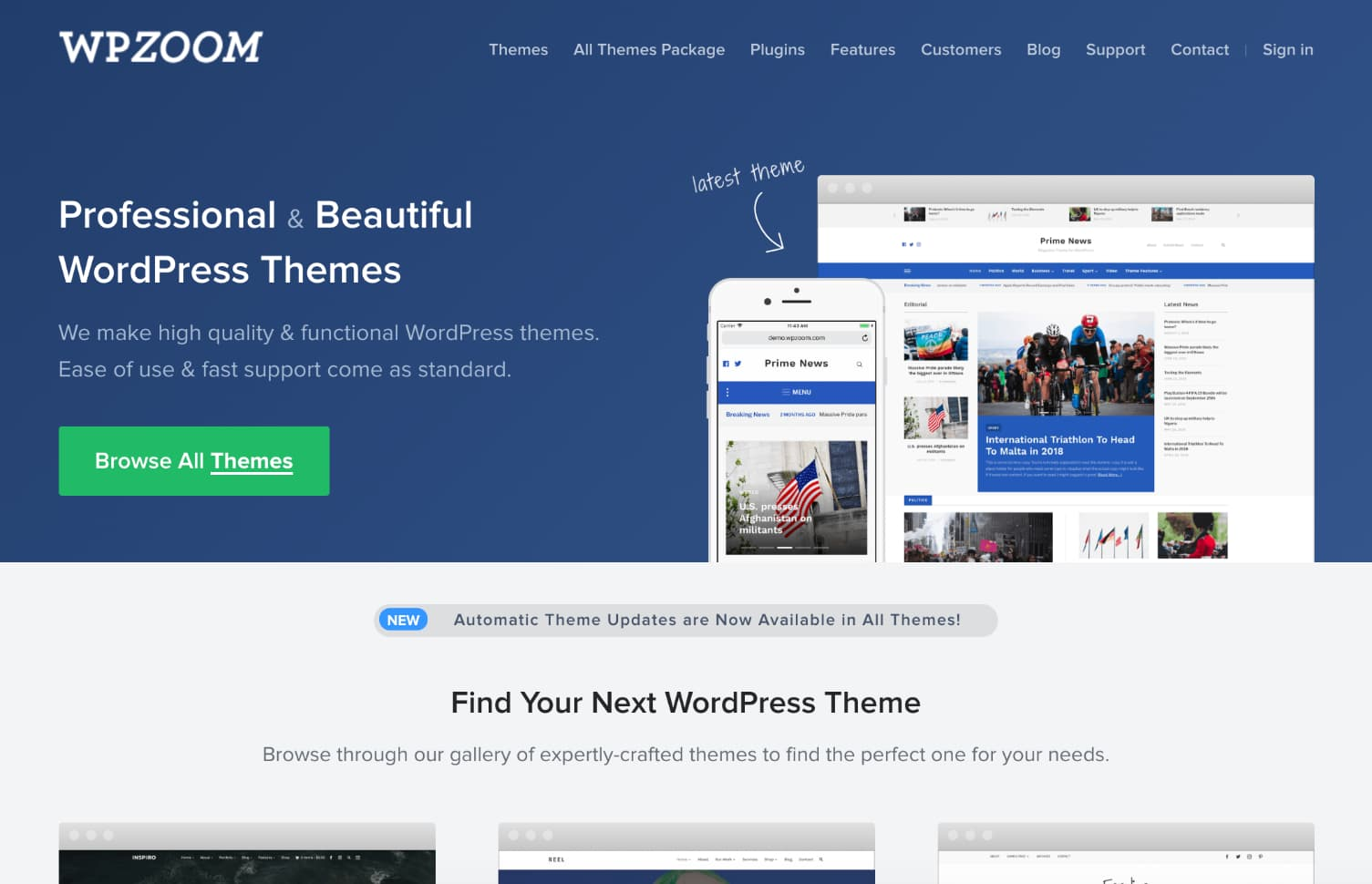 WPZOOM WordPress theme shop