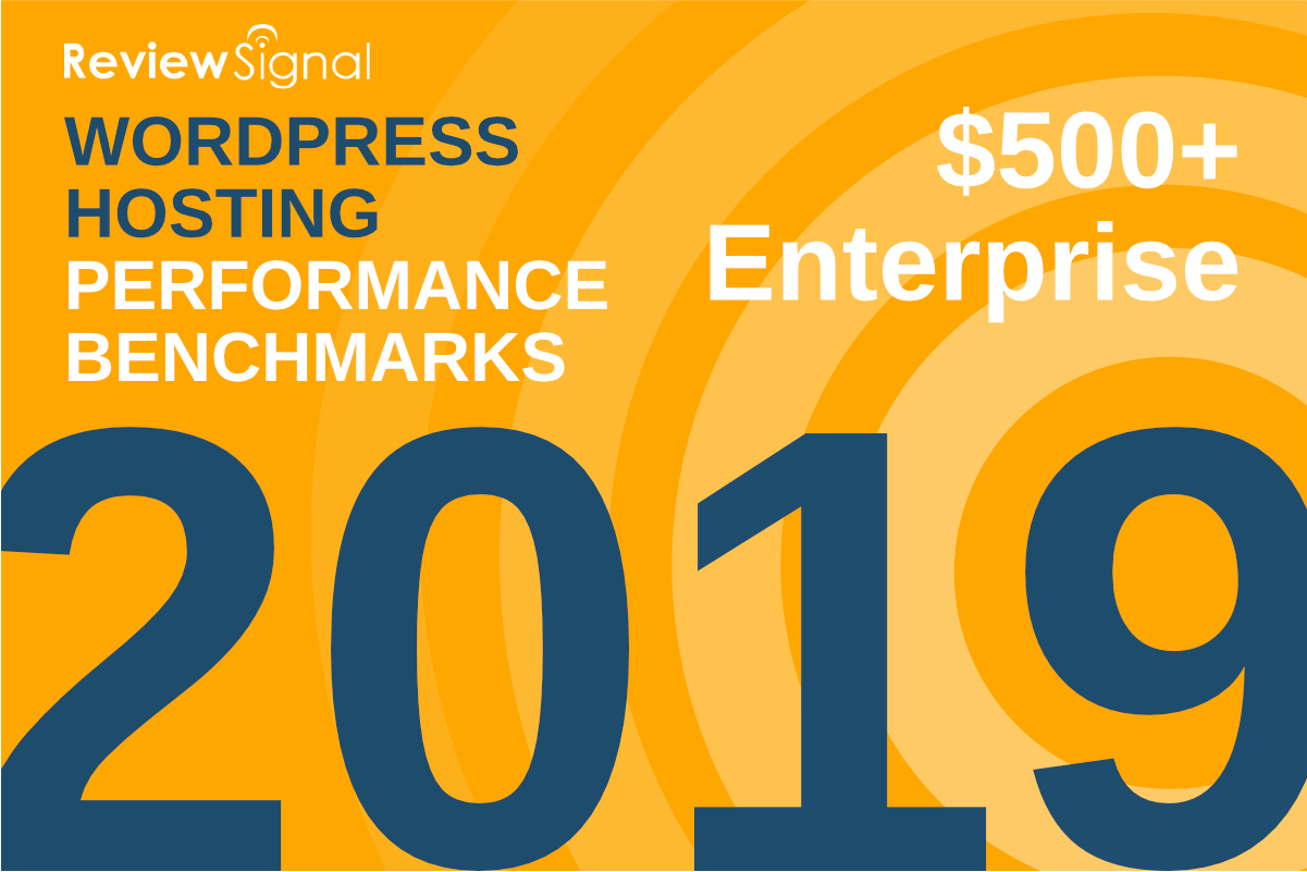 2019 Review Signal hosting performance benchmarks