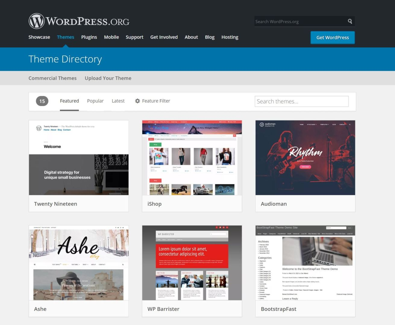 WordPress-plugins-directory-homepage