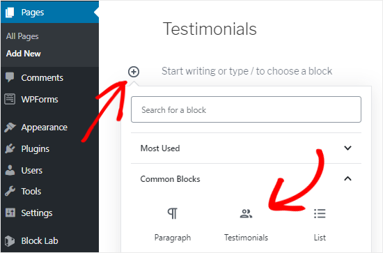 Add Custom Block to Page Editor