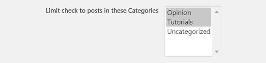 Choose Categories to schedule your WordPress posts