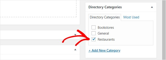 Choose Directory Category
