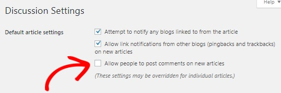 Disable comments on future posts