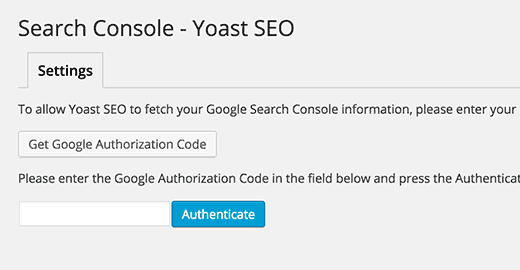 Add Search Console