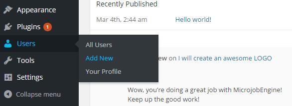Add new user