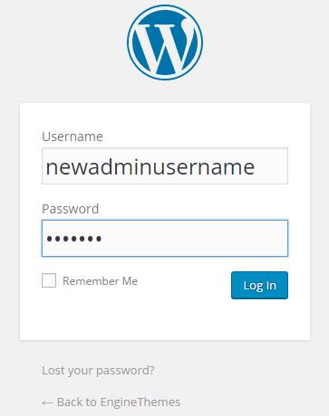 New user login