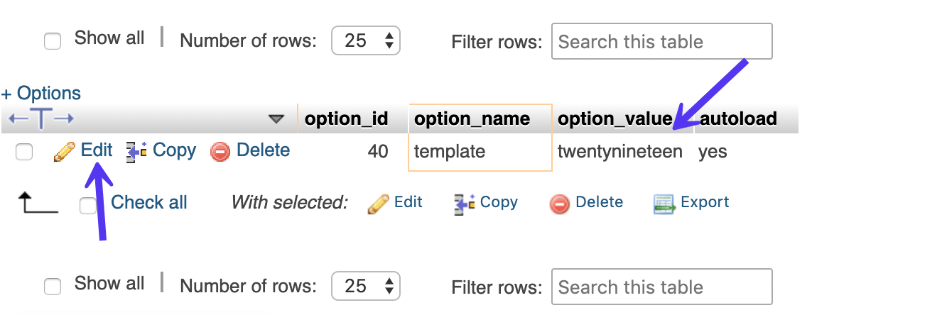 wp_options template name