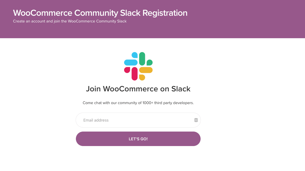 WooCommerce Community on Slack