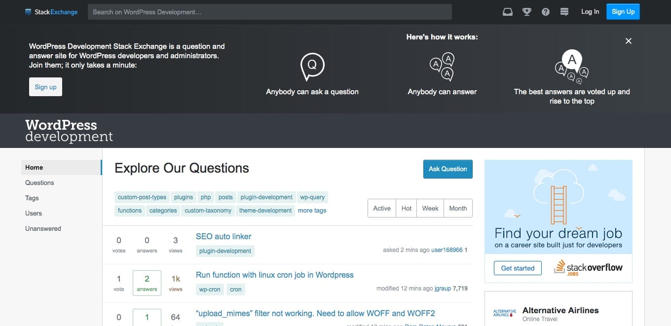 WordPress on Stack Exchange