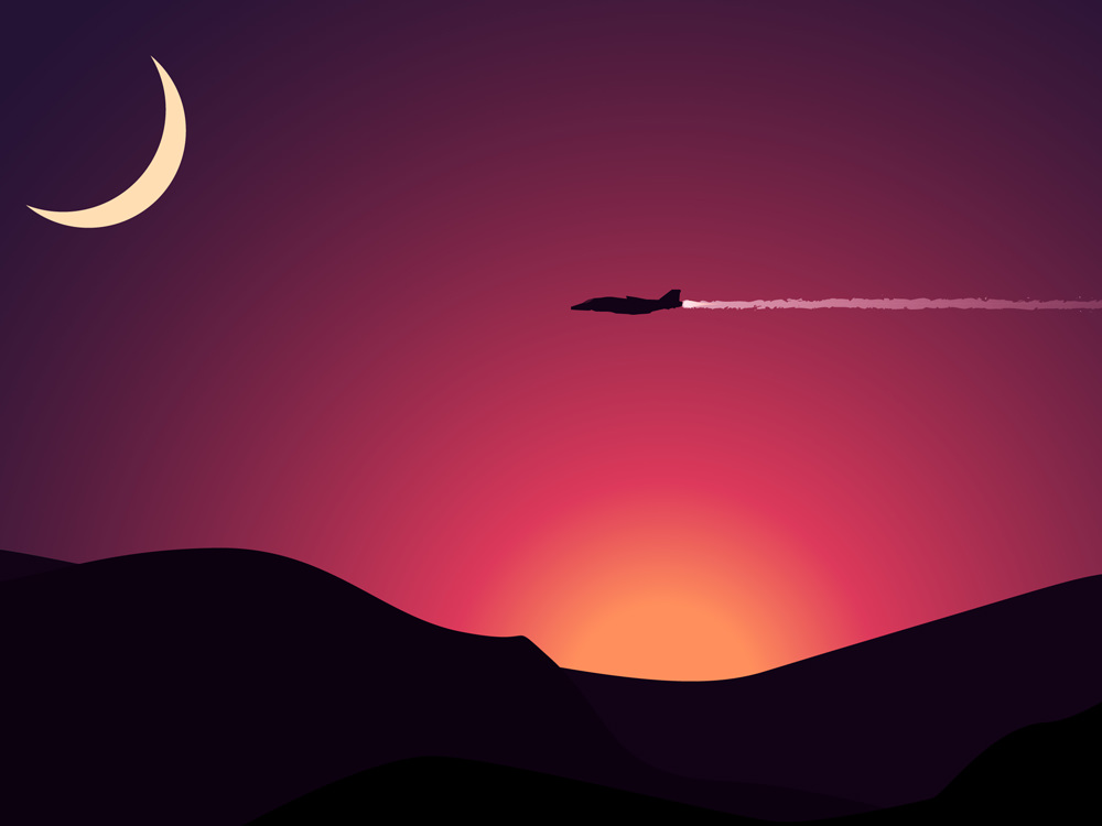 aircraft-digital-art-minimalism
