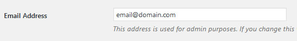 change notification email address when you take over existing wordpress site