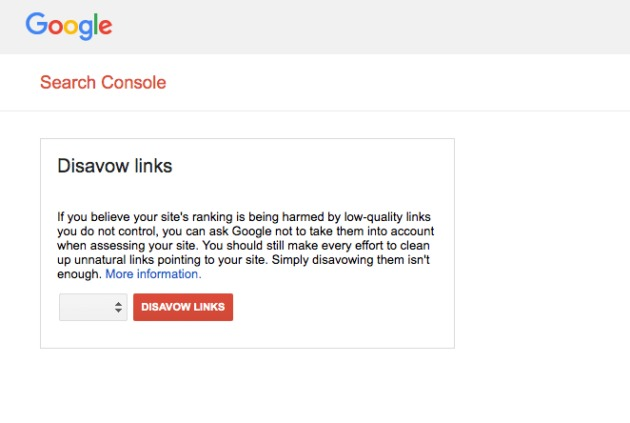 The Google Disavow Links tool.
