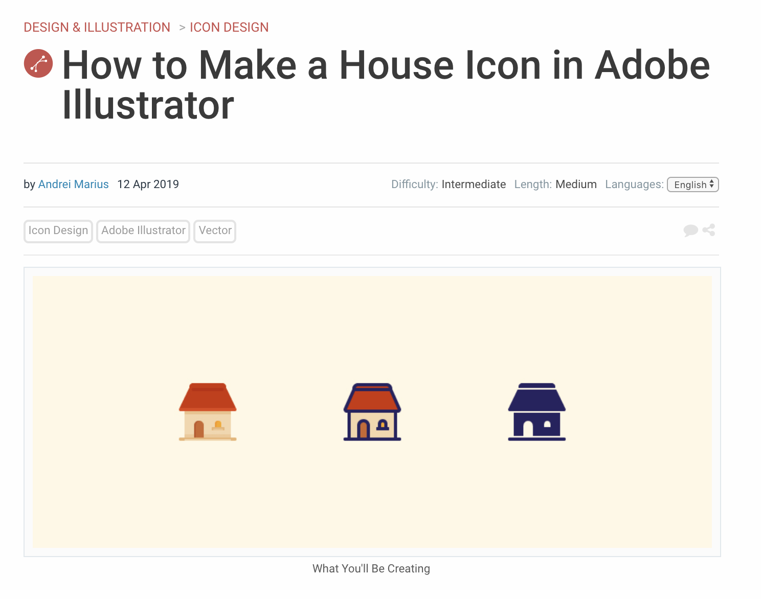 make a house icon with Adobe Illustrator CC