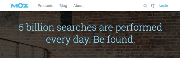 The Moz Homepage.