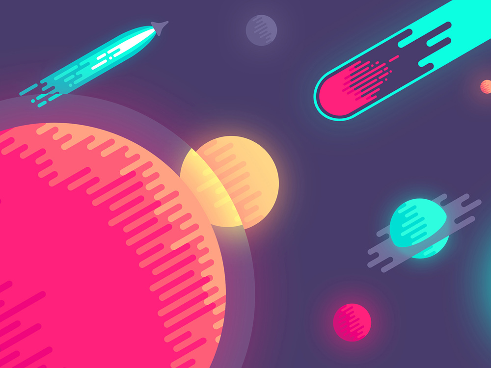 space-colorful-minimalism