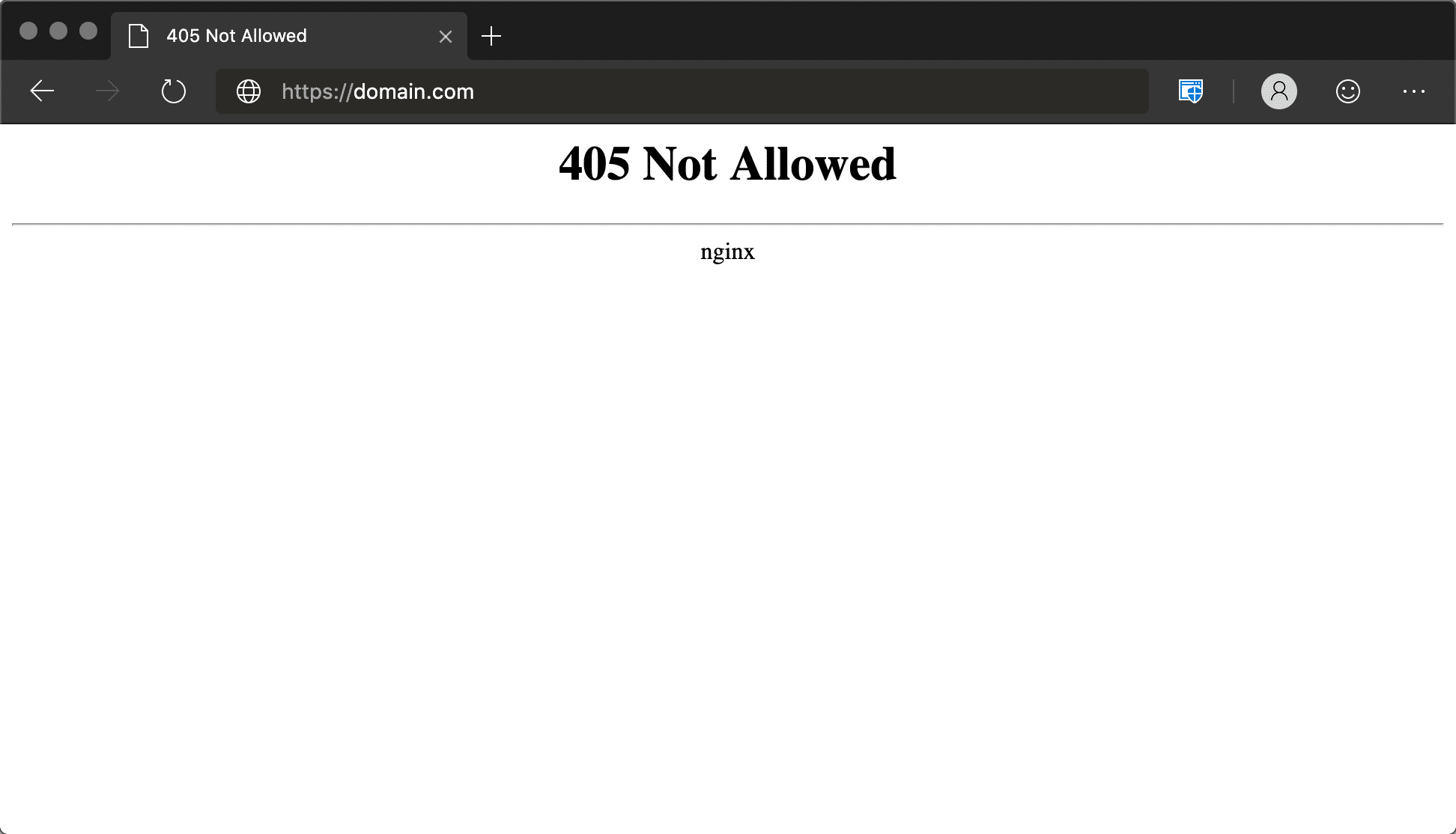 405 Not Allowed Error Nginx in Microsoft Edge