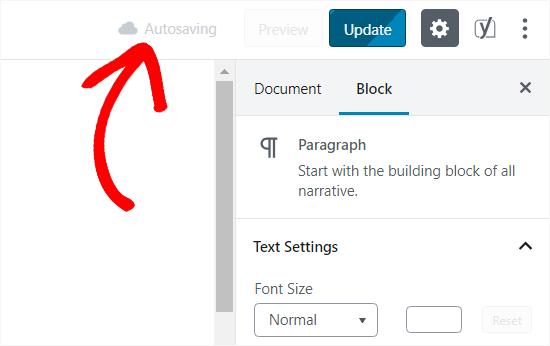 Autosave revisions in WordPress