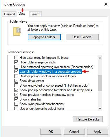 Launch file explorer windows in a separate process