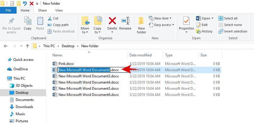 Rename multiple files in the File Explorer