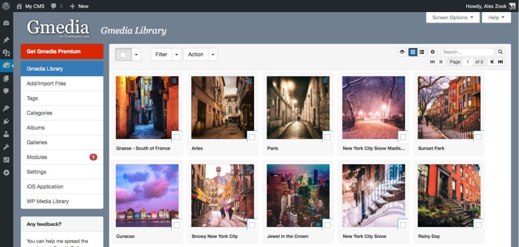 Gmedia Gallery WordPress gallery plugins