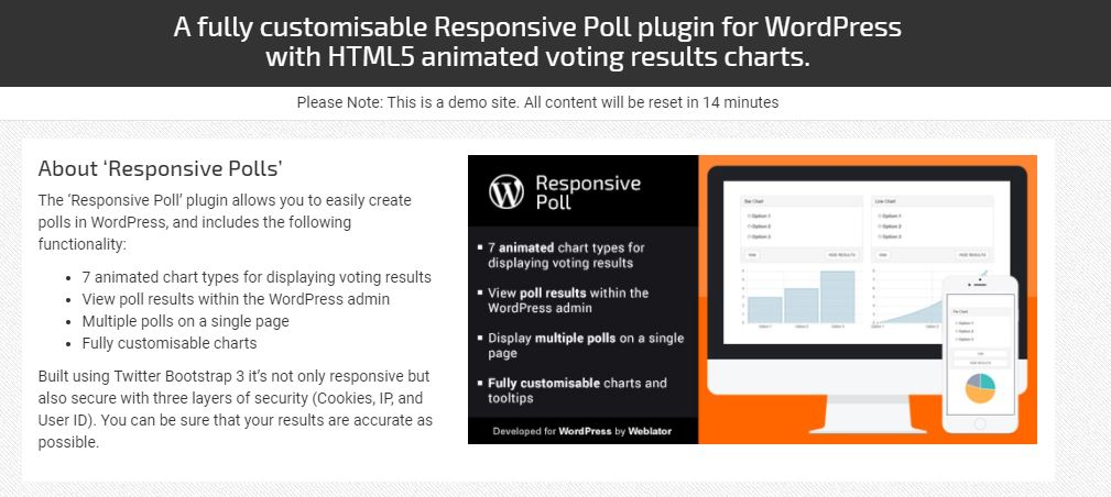 Responsive Poll WordPress survey plugin