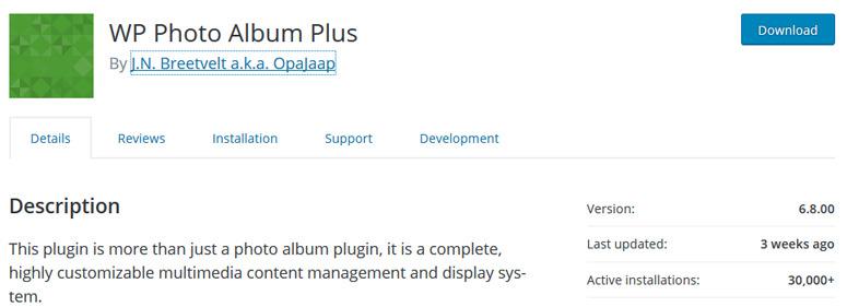 wp photo album plus WordPress Gallery Plugin