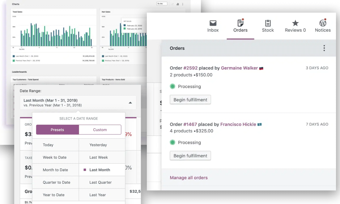 WooCommerce 4.0 introduced a streamlined dashboard for easy store management