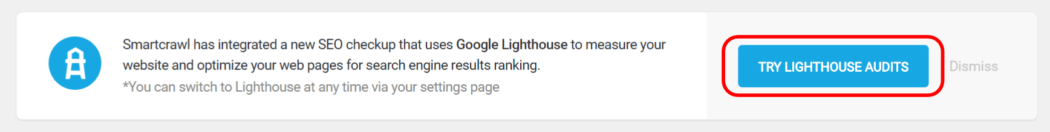 SmartCrawl confirm switch to Lighthouse SEO
