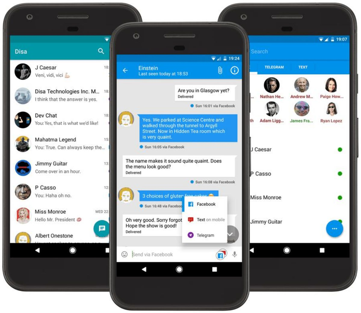 Disa - unified messenger for mobiles