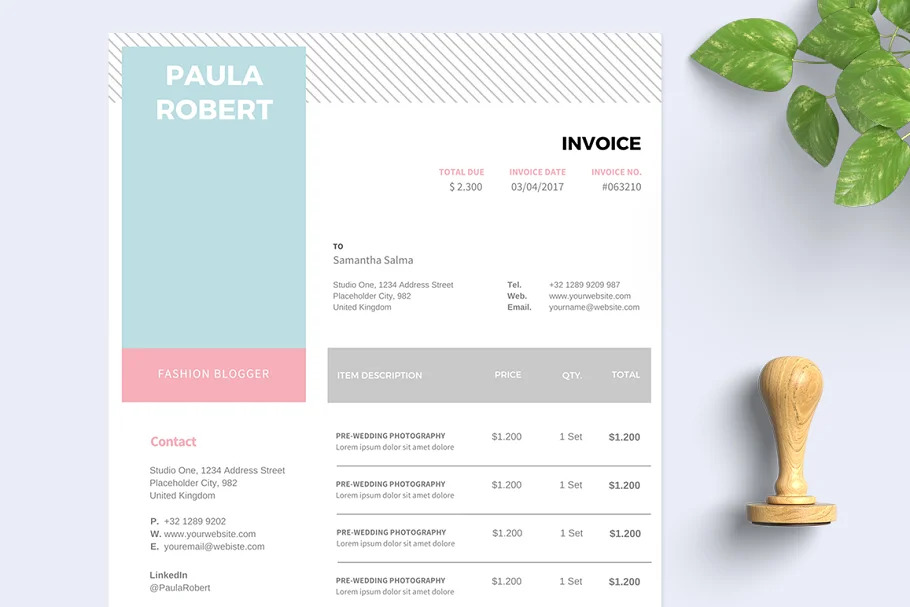 Invoice Template by Ariodsgn