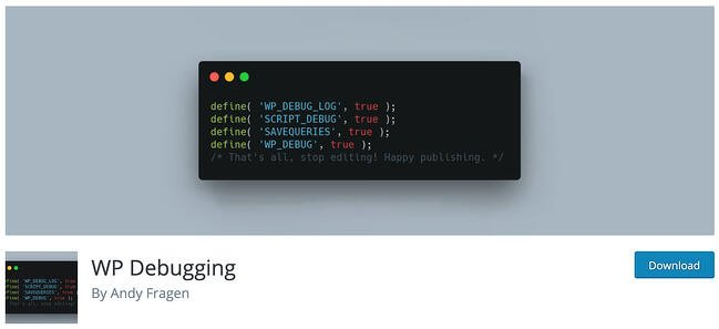 download page for the wp debugging plugin to help resolve the http 500 internal server error in wordpress