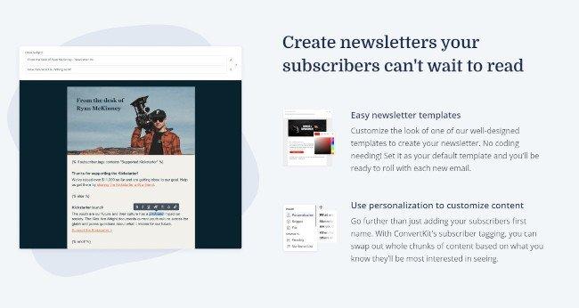 Newsletter Software Tool: ConvertKit