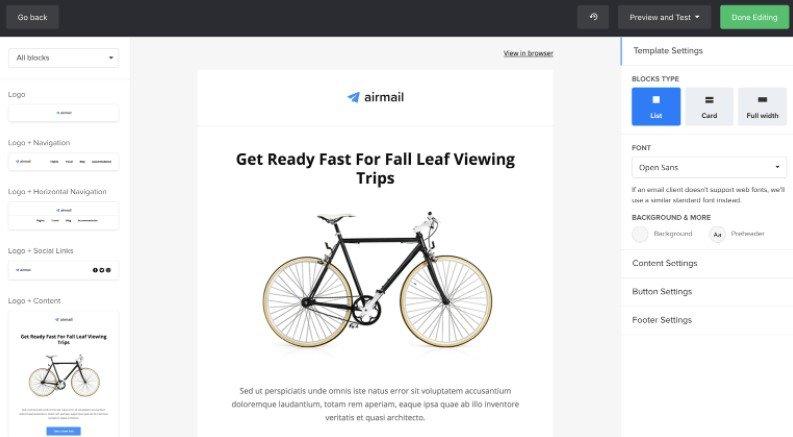 Newsletter Software Tool: MailerLite