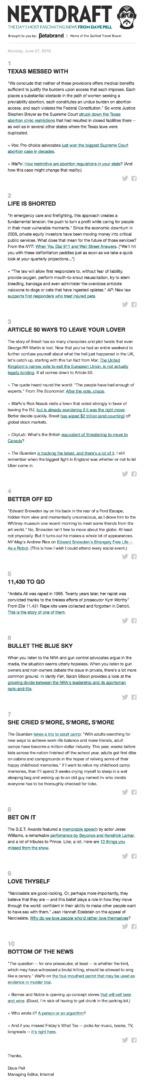 Email Newsletter Example: NextDraft