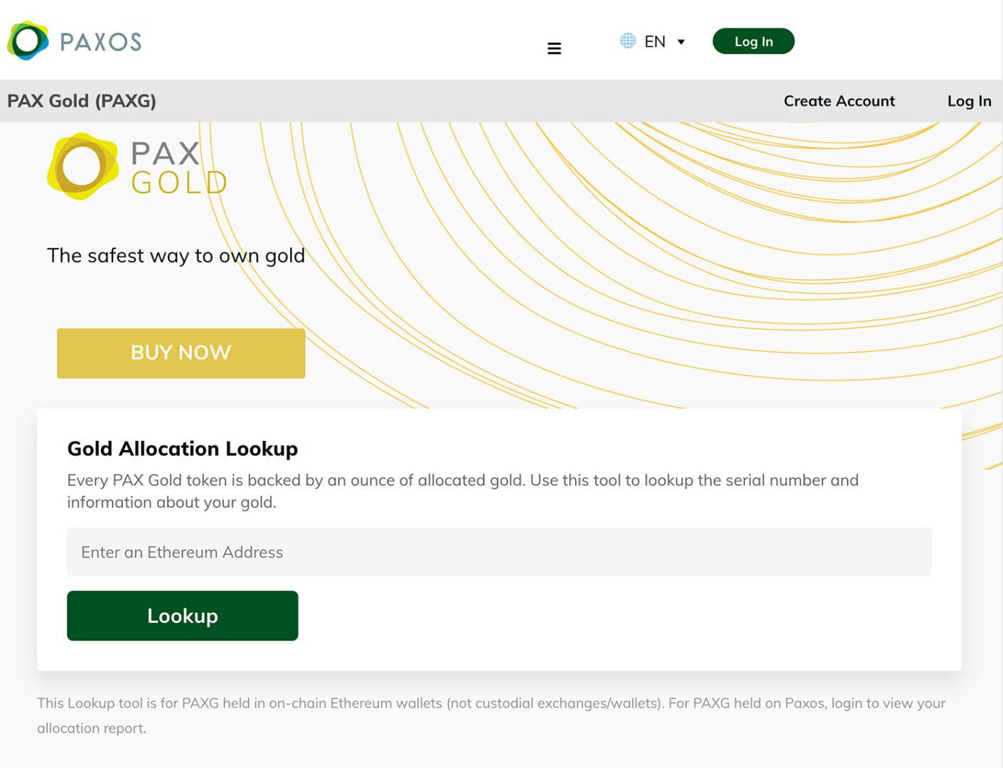 pax gold