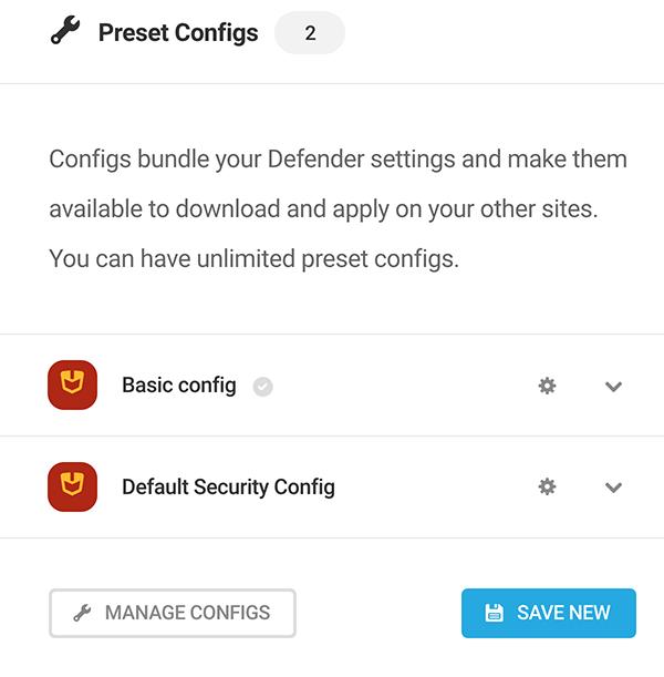 A look at preset configs.