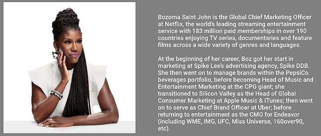 Professional background example by Bozoma Saint John