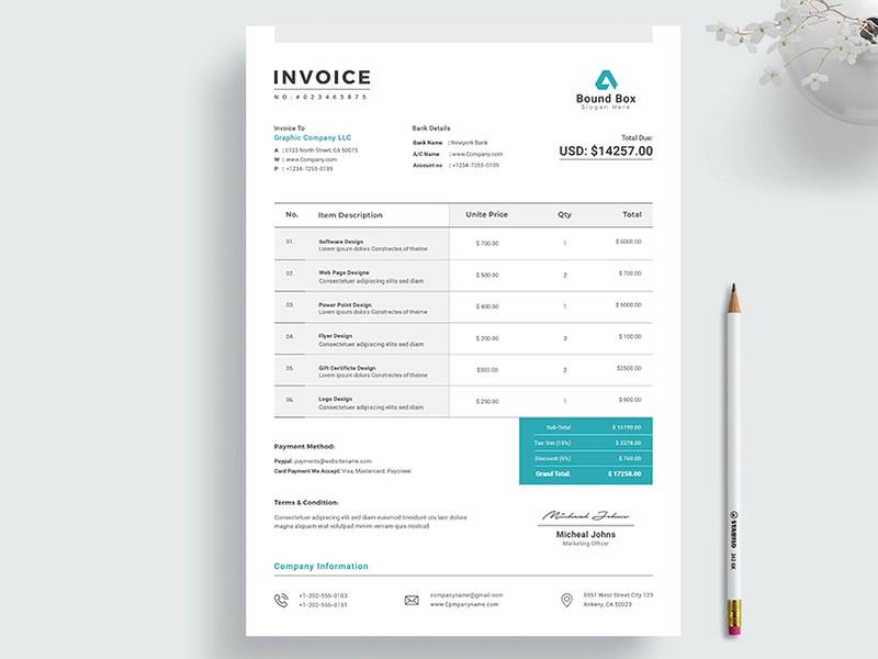Classic Design P Invoice