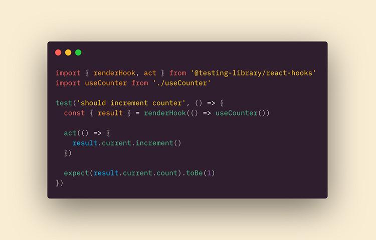 React Hooks Testing Library