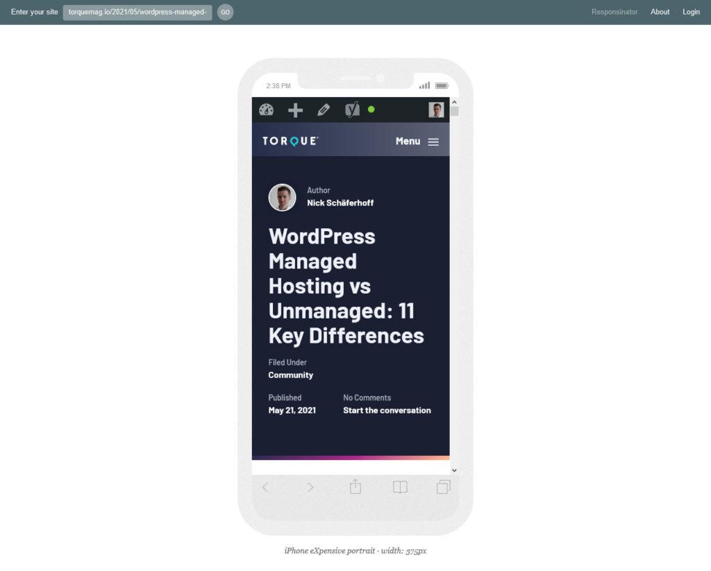 responsinator mobile testing tools