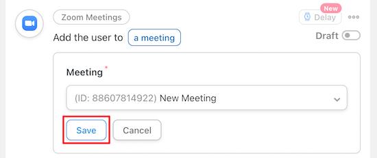 Select Zoom meeting