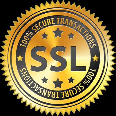 Secure Transaction via 256 bit SSL Encryption