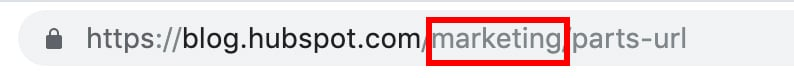 parts of a url: subdirectory