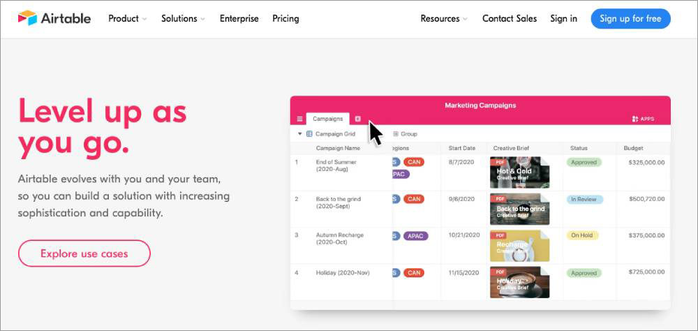project management tool airtable